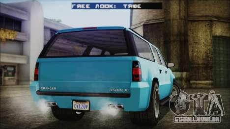 GTA 5 Declasse Granger Civilian para GTA San Andreas esquerda vista