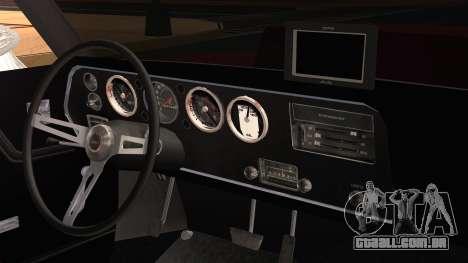 Chevrolet Chevelle Drag Car para GTA San Andreas vista direita