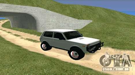 Lada Urban OFF ROAD para GTA San Andreas esquerda vista