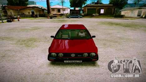 Volkswagen Golf Mk2 para GTA San Andreas vista traseira