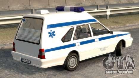 Daewoo-FSO Polonez Carga de Ambulância de 1999 para GTA 4 traseira esquerda vista