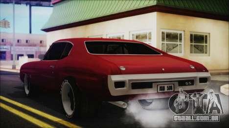 Chevrolet Chevelle Drag Car para GTA San Andreas esquerda vista