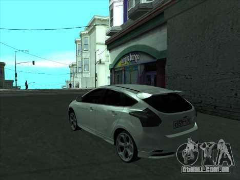 Ford Focus ST barbatana para GTA San Andreas traseira esquerda vista