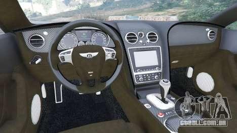 GTA 5 Bentley Continental GT 2012 v1.1 traseira direita vista lateral