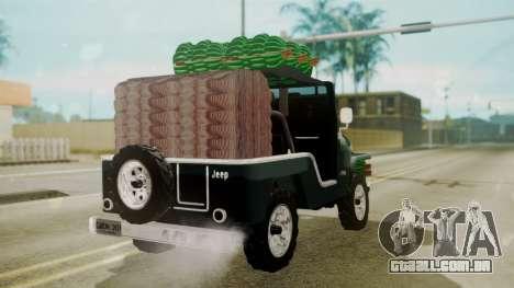 Jeep Willys Cafetero para GTA San Andreas esquerda vista
