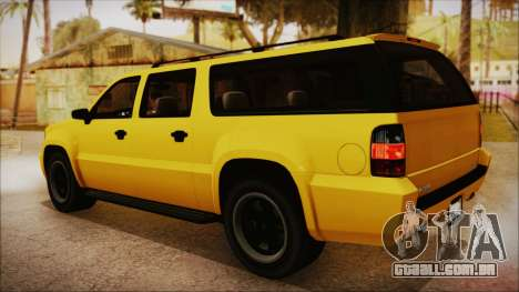 GTA 5 Declasse Granger IVF para GTA San Andreas esquerda vista