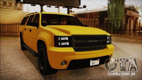GTA 5 Declasse Granger IVF para GTA San Andreas traseira esquerda vista