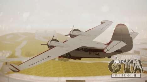 Grumman G-21 Goose N121GL para GTA San Andreas esquerda vista