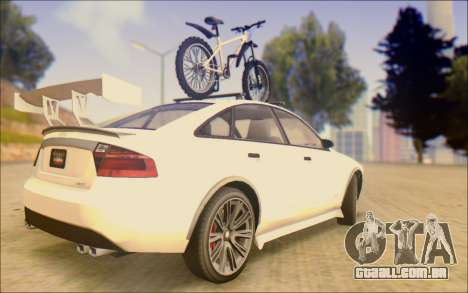 Obey Tailgater Special Tuning para GTA San Andreas traseira esquerda vista