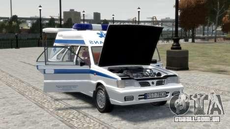 Daewoo-FSO Polonez Carga de Ambulância de 1999 para GTA 4 motor