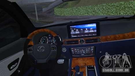 Lexus LX570 2016 para vista lateral GTA San Andreas