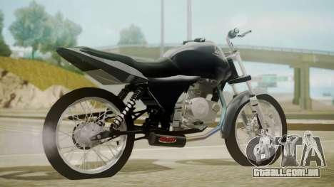 Honda Titan CG150 Stunt para GTA San Andreas esquerda vista
