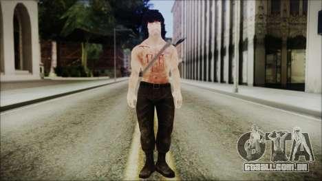 Rambo Skin para GTA San Andreas segunda tela