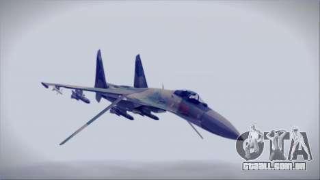 Sukhoi SU-35S East German Air Force para GTA San Andreas vista direita