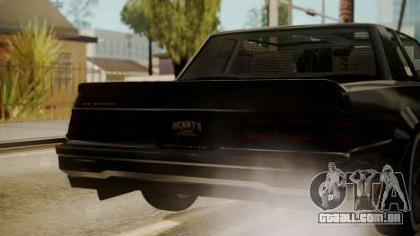 GTA 5 Faction Stock DLC LowRider para GTA San Andreas vista superior