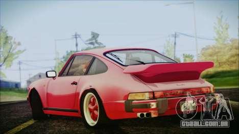 Porsche 911 Turbo 3.3 Coupe (930) 1986 para GTA San Andreas esquerda vista