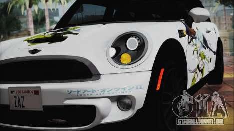 Mini Cooper Clubman 2011 Itasha para GTA San Andreas vista traseira