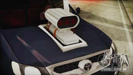 Toyota Hilux 2015 v2 para GTA San Andreas traseira esquerda vista