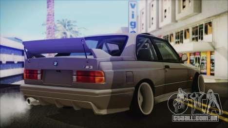 BMW M3 E30 Camber para GTA San Andreas esquerda vista