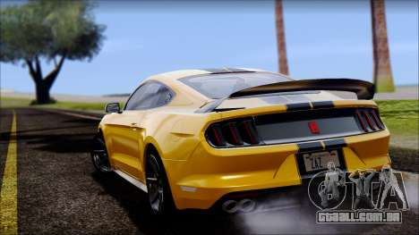 Ford Mustang Shelby GT350R 2016 para GTA San Andreas vista direita