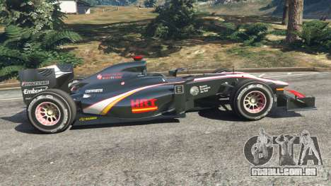 GTA 5 Hispania F110 (HRT F110) v1.1 vista lateral esquerda