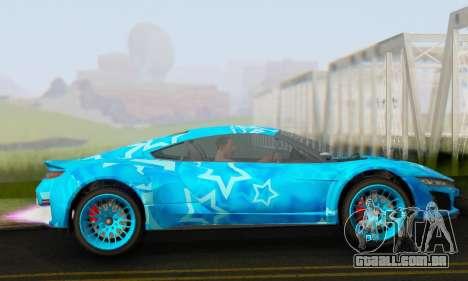 Dinka Jester (GTA V) Blue Star Edition para GTA San Andreas esquerda vista