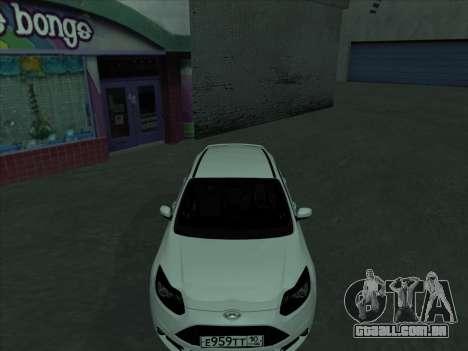 Ford Focus ST barbatana para vista lateral GTA San Andreas
