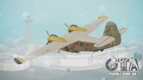 Grumman G-21 Goose WhiteYellow para GTA San Andreas esquerda vista