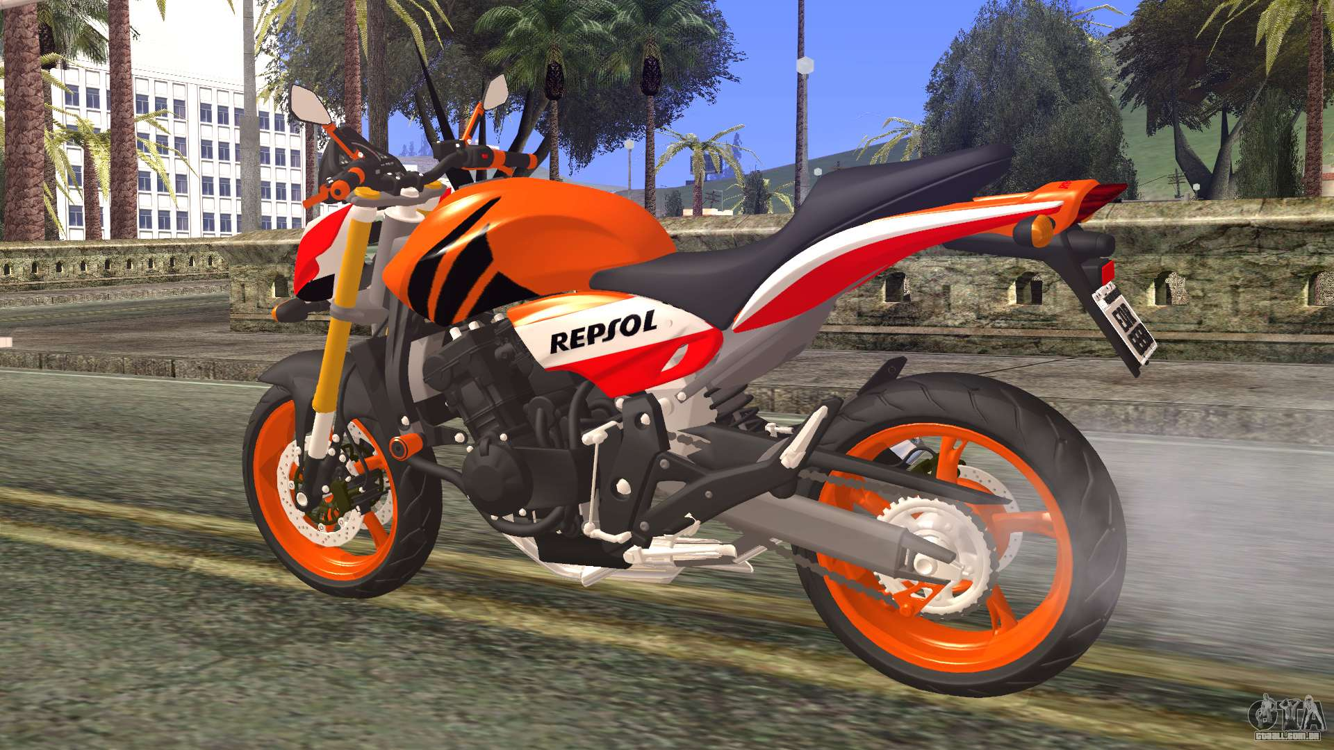 honda hornet repsol 2010 para gta san andreas. Black Bedroom Furniture Sets. Home Design Ideas