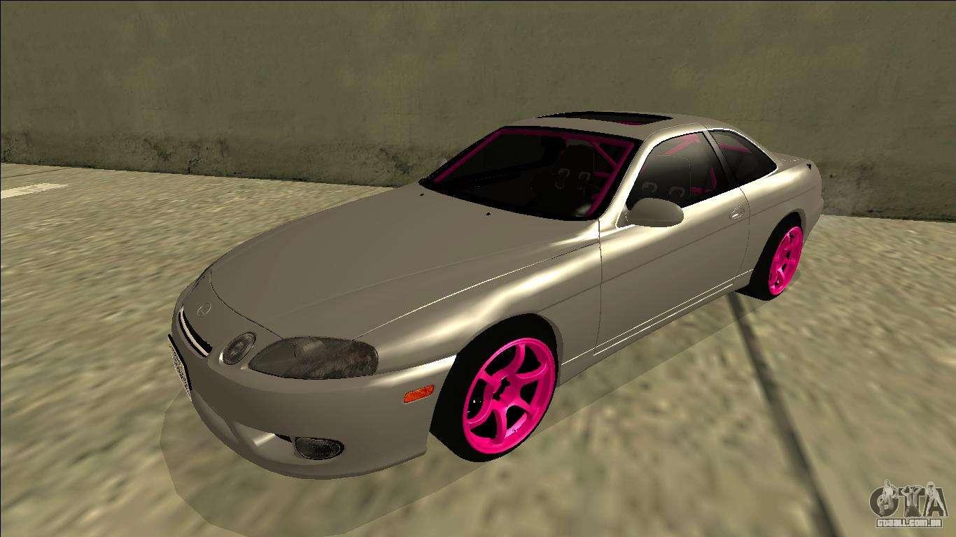 #B40944 Lexus SC 300 Drift para GTA San Andreas 1454 Substituir Vidros Janelas