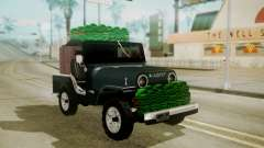 Jeep Willys Cafetero para GTA San Andreas