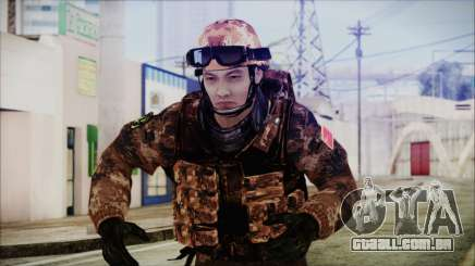 Chinese Army Desert Camo 2 para GTA San Andreas