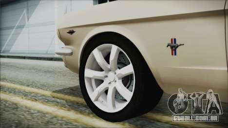 Ford Mustang Fastback 1966 Chrome Edition para GTA San Andreas traseira esquerda vista
