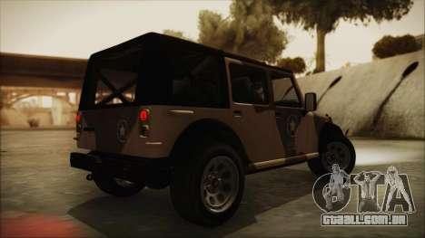 GTA 5 Canis Crusader para GTA San Andreas esquerda vista