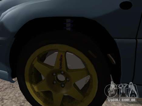 Subaru Forester 1998 para GTA San Andreas vista interior