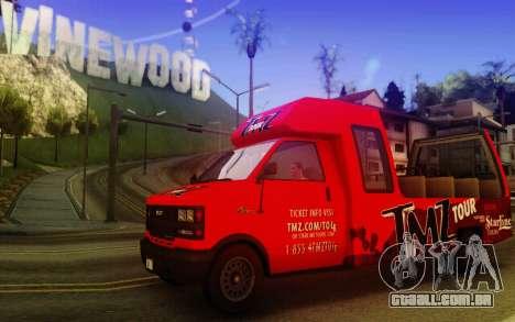 TMZ Tourbus para GTA San Andreas esquerda vista