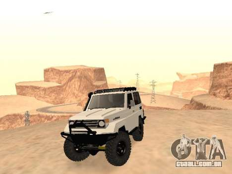 Toyota Machito Off-Road (IVF) 2009 para GTA San Andreas vista traseira
