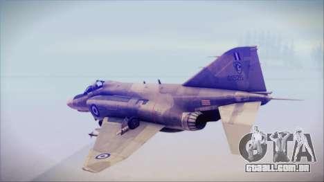McDonnell Douglas F-4N Hellenic Air Force para GTA San Andreas esquerda vista