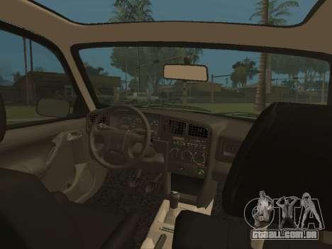 Volkswagen Passat B3 para GTA San Andreas vista interior