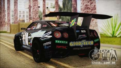 Nissan GT-R R35 Naoto para GTA San Andreas esquerda vista