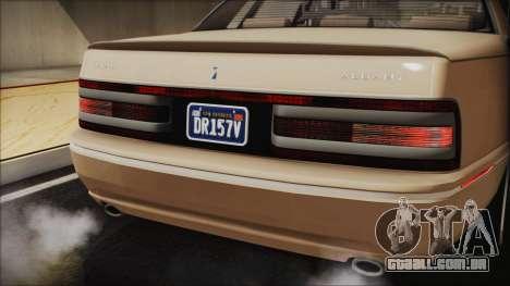 GTA 5 Albany Primo Custom IVF para GTA San Andreas vista interior