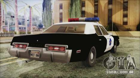 Dodge Monaco 1974 SFPD para GTA San Andreas esquerda vista