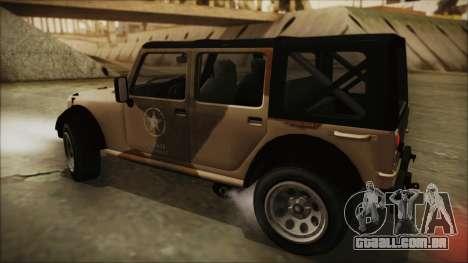 GTA 5 Canis Crusader para GTA San Andreas traseira esquerda vista