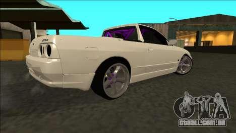 Nissan Skyline R32 Drift para GTA San Andreas traseira esquerda vista