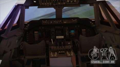 Boeing 747-237Bs Air India Harsha Vardhan para GTA San Andreas vista traseira