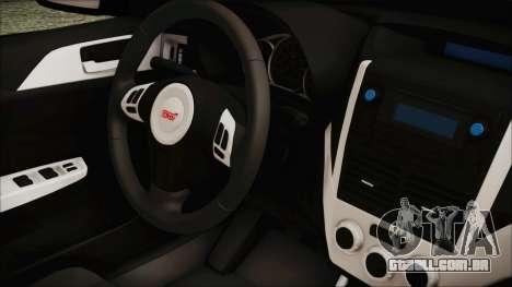 Subaru Impreza Police para GTA San Andreas vista direita