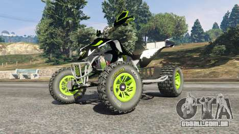 GTA 5 Yamaha YZF 450 ATV Monster Energy vista lateral direita