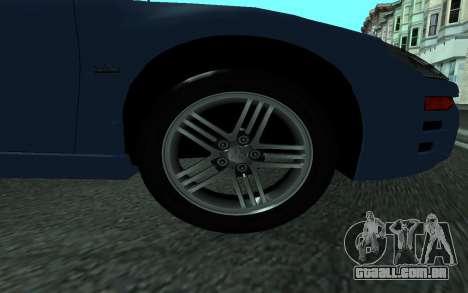 Mitsubishi Eclipse GTS Tunable para GTA San Andreas traseira esquerda vista