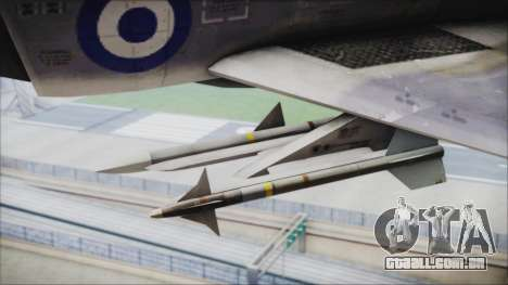 McDonnell Douglas F-4N Hellenic Air Force para GTA San Andreas vista direita