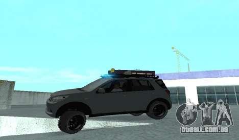 Toyota Terios 2009 FORA-de-ESTRADA de LAMA-o-TER para GTA San Andreas vista superior
